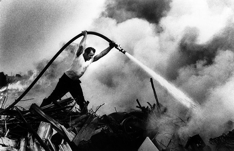 Incinerator Fire - E. Chicago, 1975.