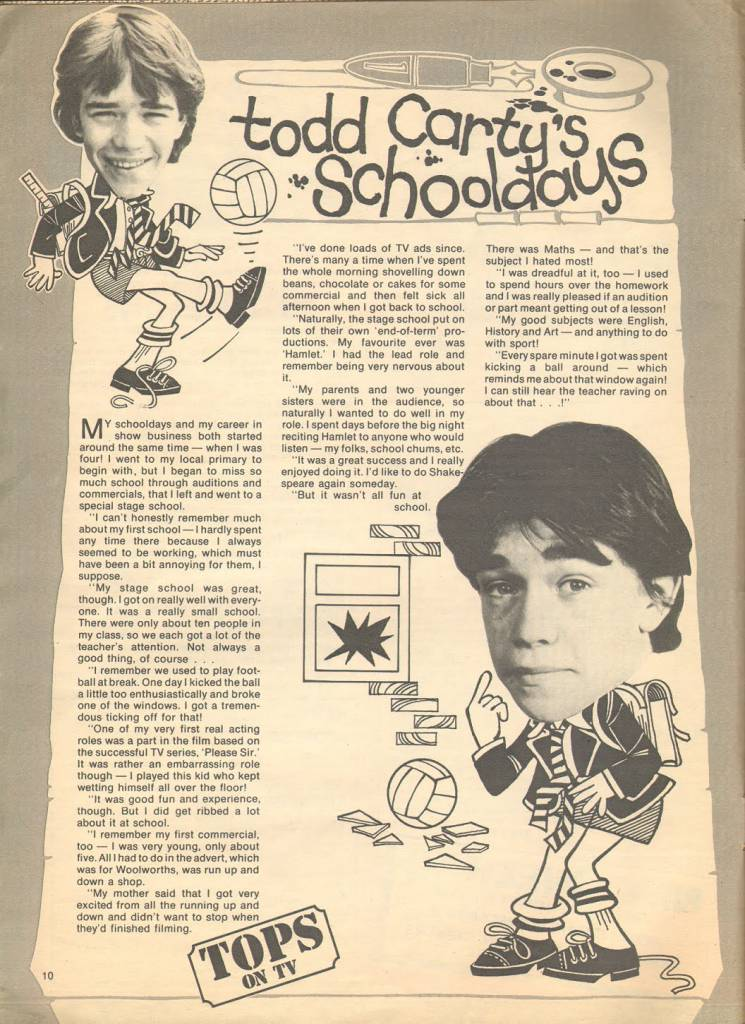 Page 10 TV Tops Magazine issue 1 1981 Adama ant