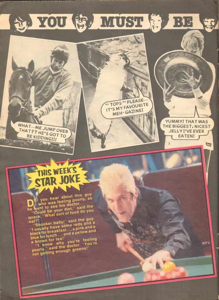 Page 14 TV Tops Magazine issue 1 1981 Adama ant