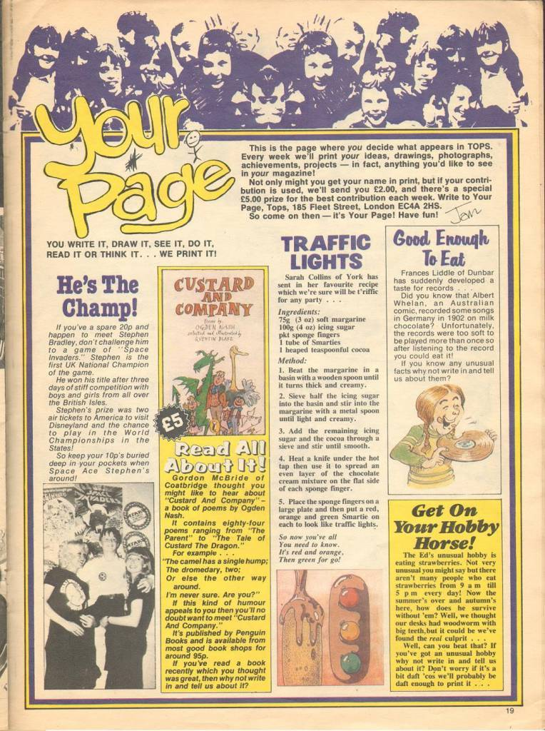 Page 19 TV Tops Magazine issue 1 1981 Adama ant