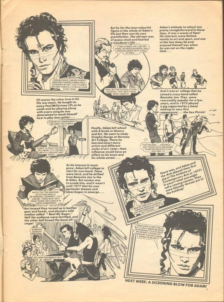 Page 5 TV Tops Magazine issue 1 1981 Adama ant