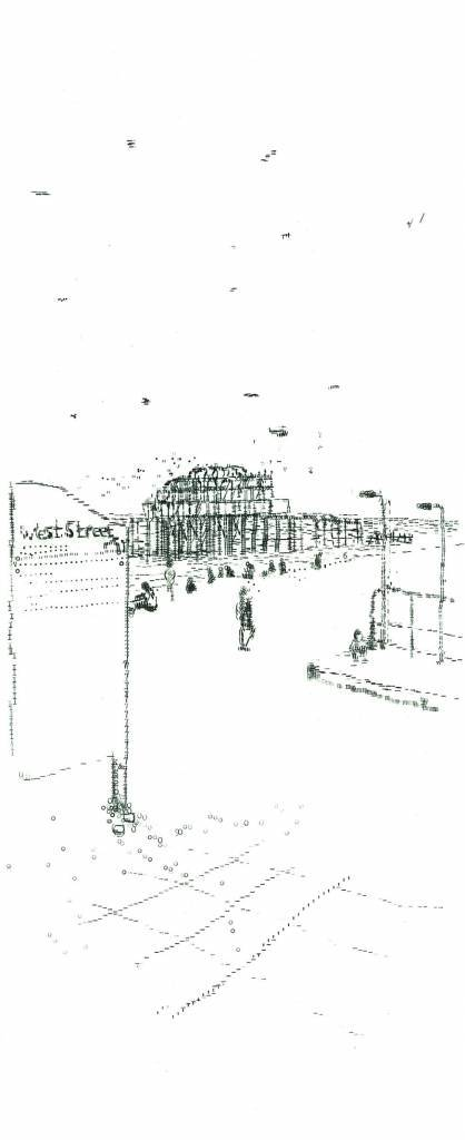 Keira Rathbone Old Brighton Pier (view from recycling bin) (2012).