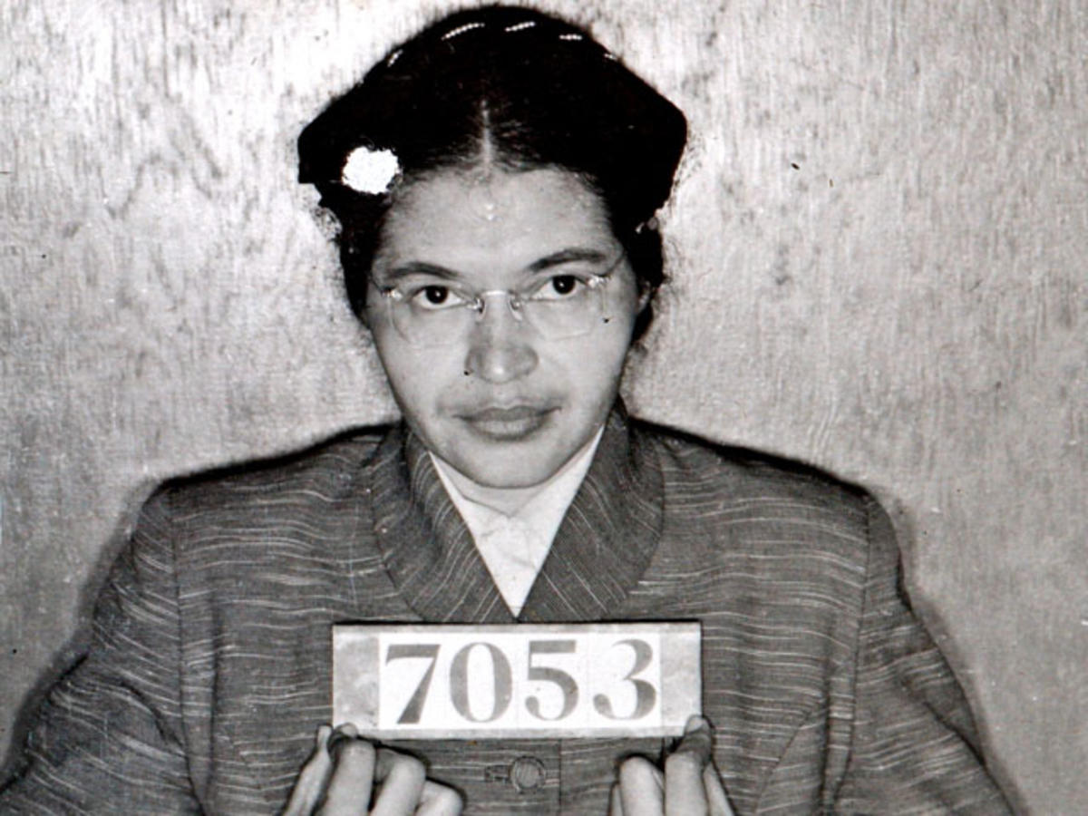 A Montgomery (Ala.) Sheriff's Department booking photo of Rosa Parks taken Feb 22, 1956,