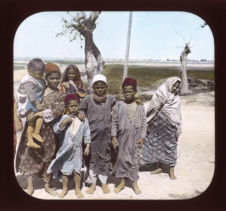 Egypt - Egyptian Children, Ramleh.