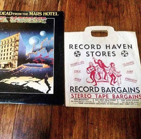@adam_bomb78 found this old NYC record store shopping bag inside this Grateful Dead LP