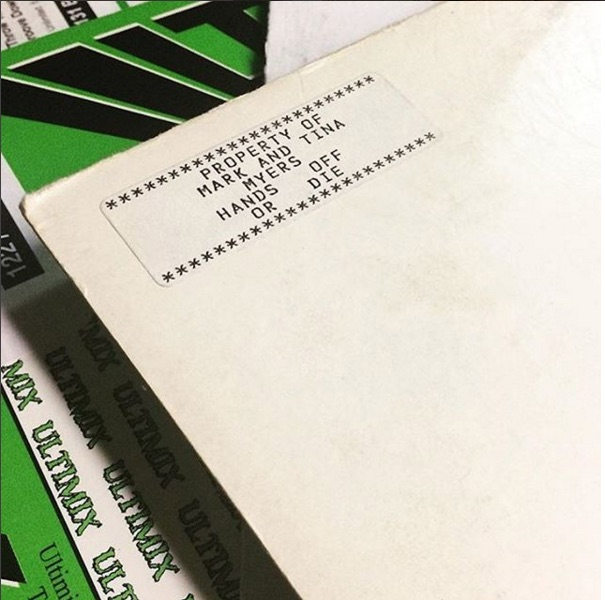 PROPERTY OF MARK AND TINA MYERS HANDS OFF OR DIE************@jessmusicvibrations found this stuck inside an Ultimix comp.