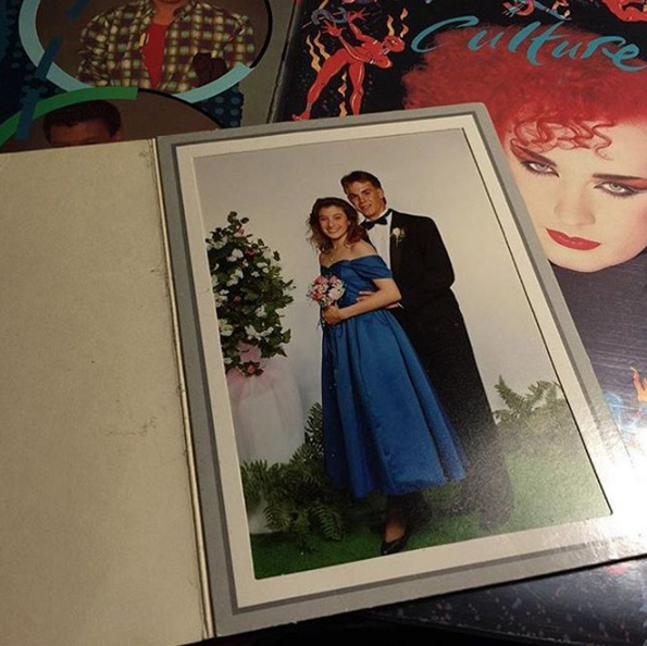 @philmachemer found this lovely prom photo inside a Culture Club LP.