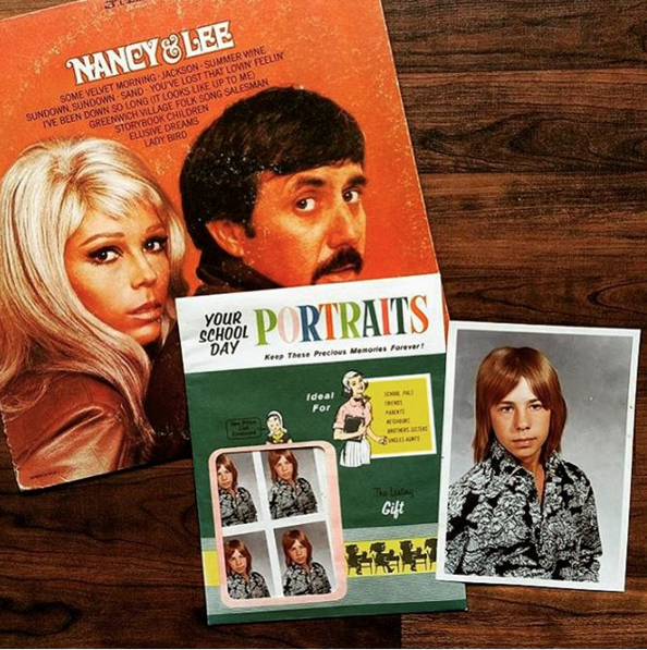 """@marksthour scooped up a copy of Nancy & Lee and found this packet of some kid's 70's school photos inside! """"Keep these precious memories forever!"""""""