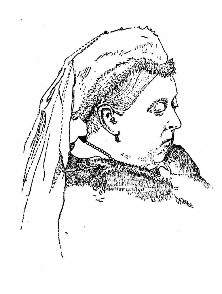 Unknown artist Queen Victoria (c. 1900), from The History of the Typewriter, by George Mares (1909).