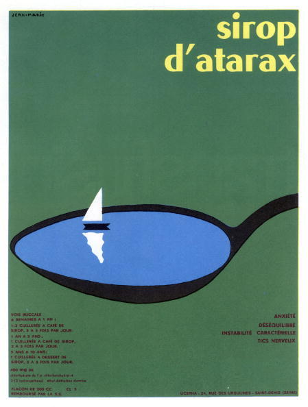 UNSPECIFIED :  French advertisement for Atarax syrup, remedy against excitability, october 1963  (Photo by Apic/Getty Images)