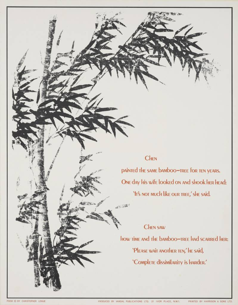 Christopher Logue Poster Poem