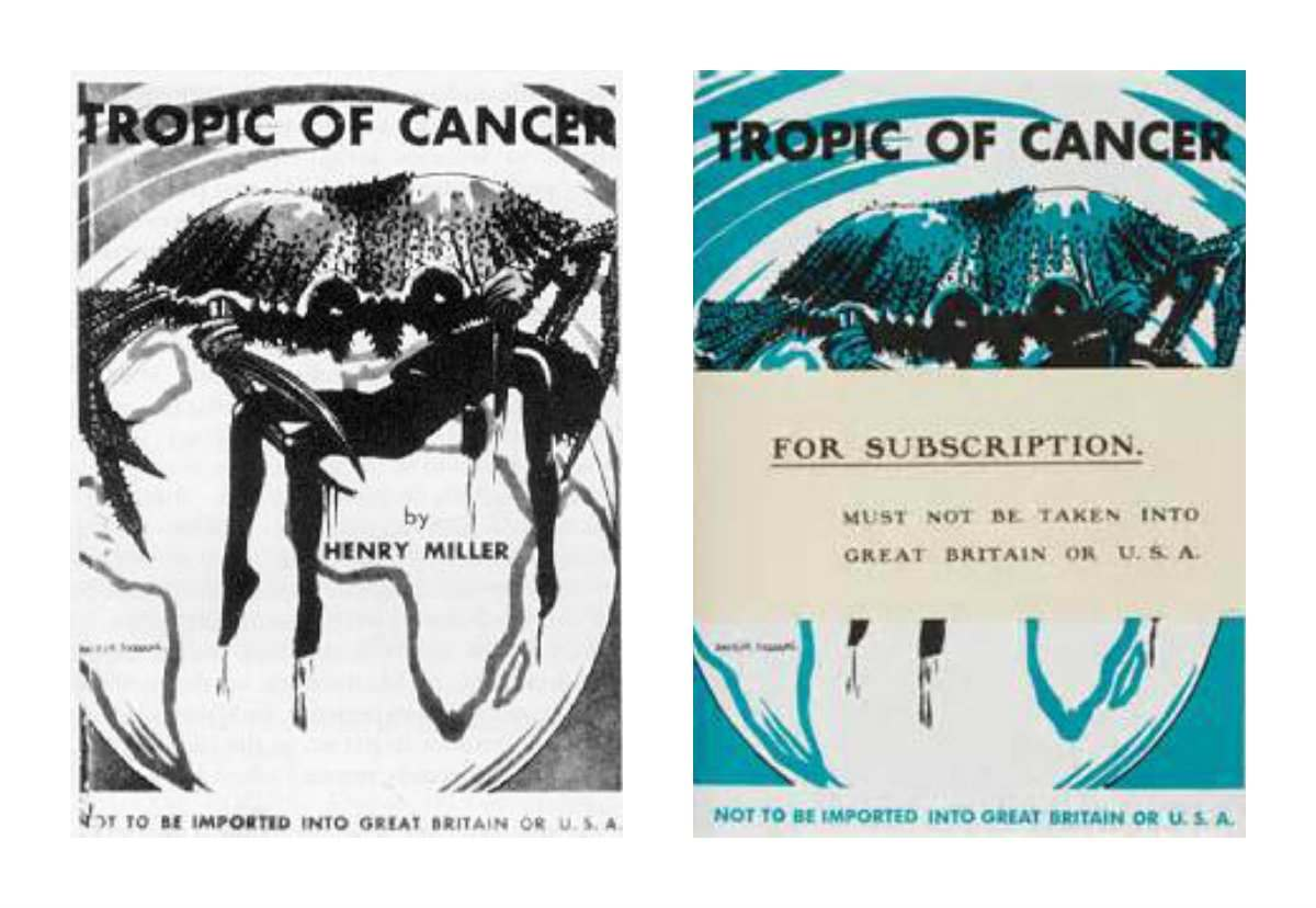 tropic of cancer ban covers