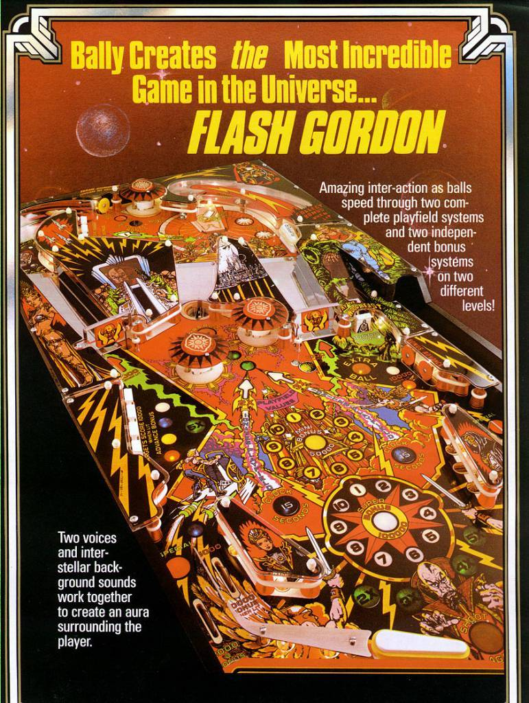The Flash Gordon Pinball Table Flyer (1980)