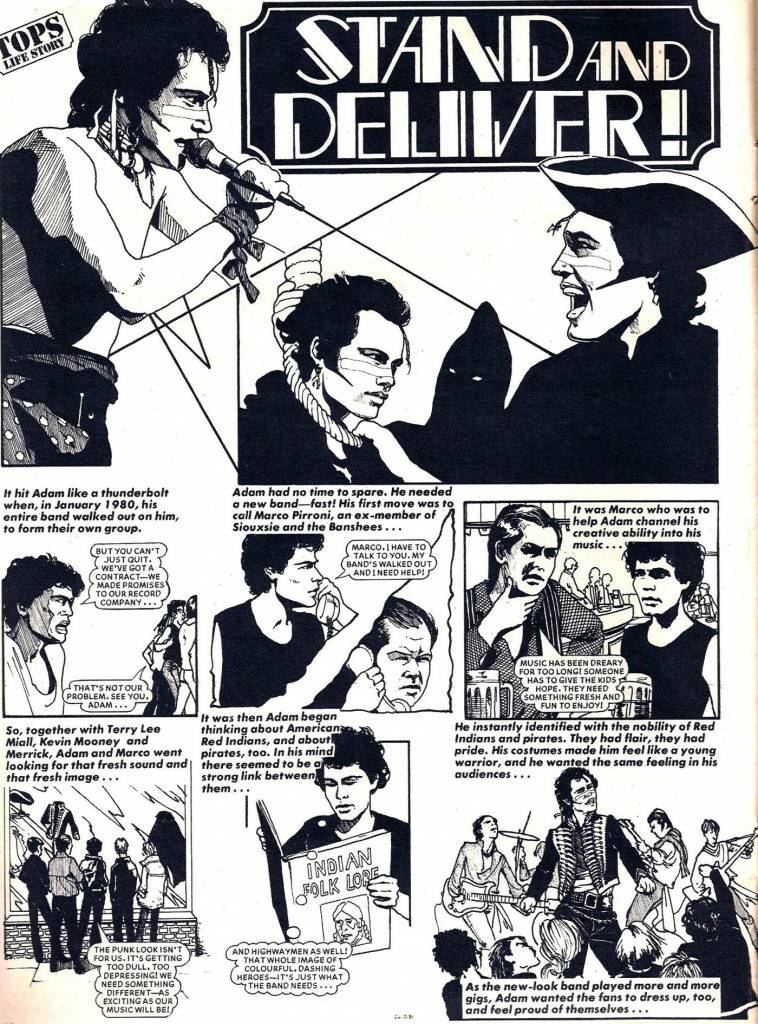 Adam And The Ants comic 1980s Adam Ant