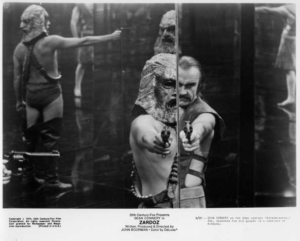 "CIRCA 1974: Sean Connery as the 23 Century Exterminator in a scene from the 20th Century Fox movie ""Zardoz"" circa 1974. (Photo by Hulton Archive/Getty Images)"