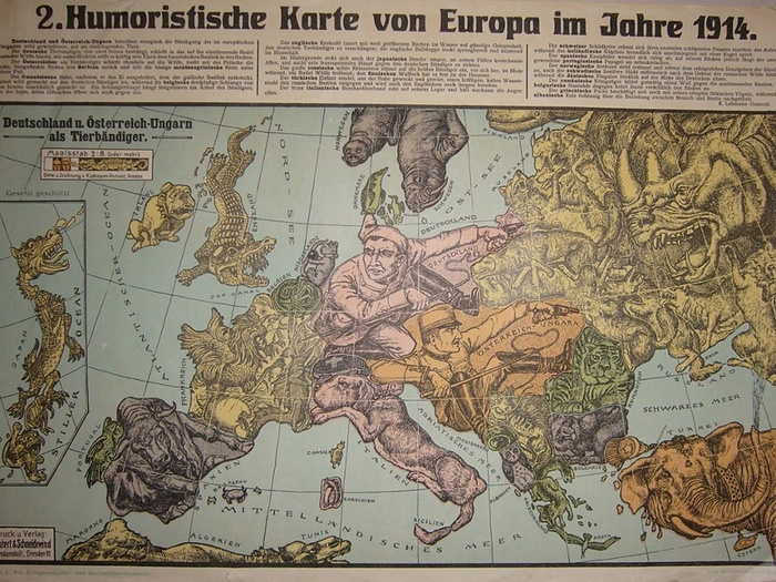 12 satirical maps of world war one flashbak japan is dragged into the european theater of war by england and grimly bares his predators teeth to germany gumiabroncs Gallery