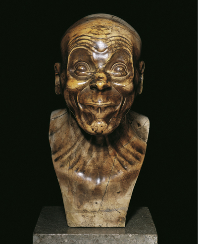 Franz Xaver Messerschmidt, The Simpleton, c. 1770 Gypsumalabaster Height 41 cm