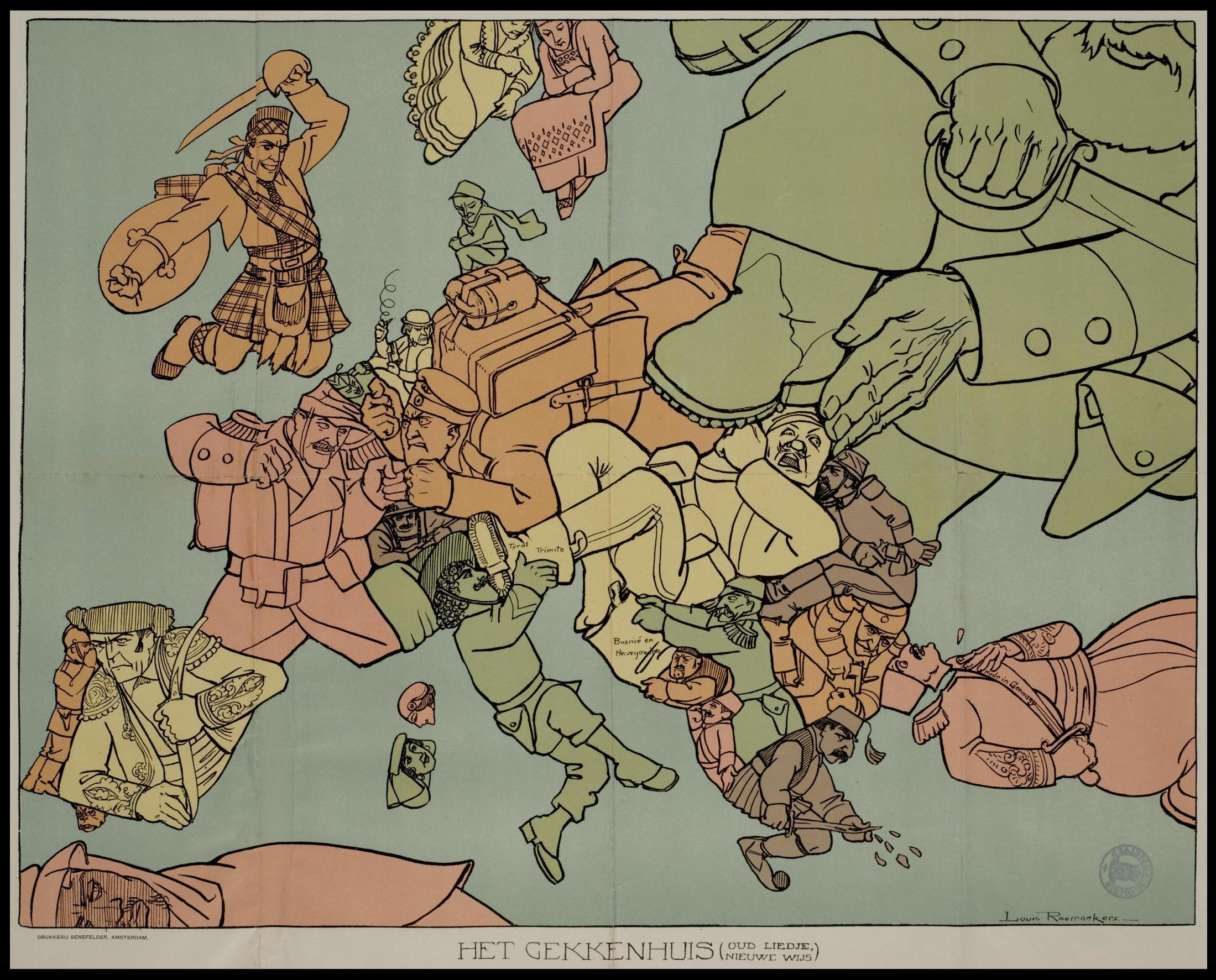 12 Satirical Maps Of World War One