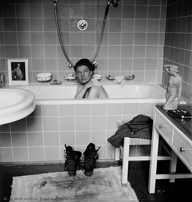 Lee Miller in Hitler's bath, Hitler's apartment, Munich
