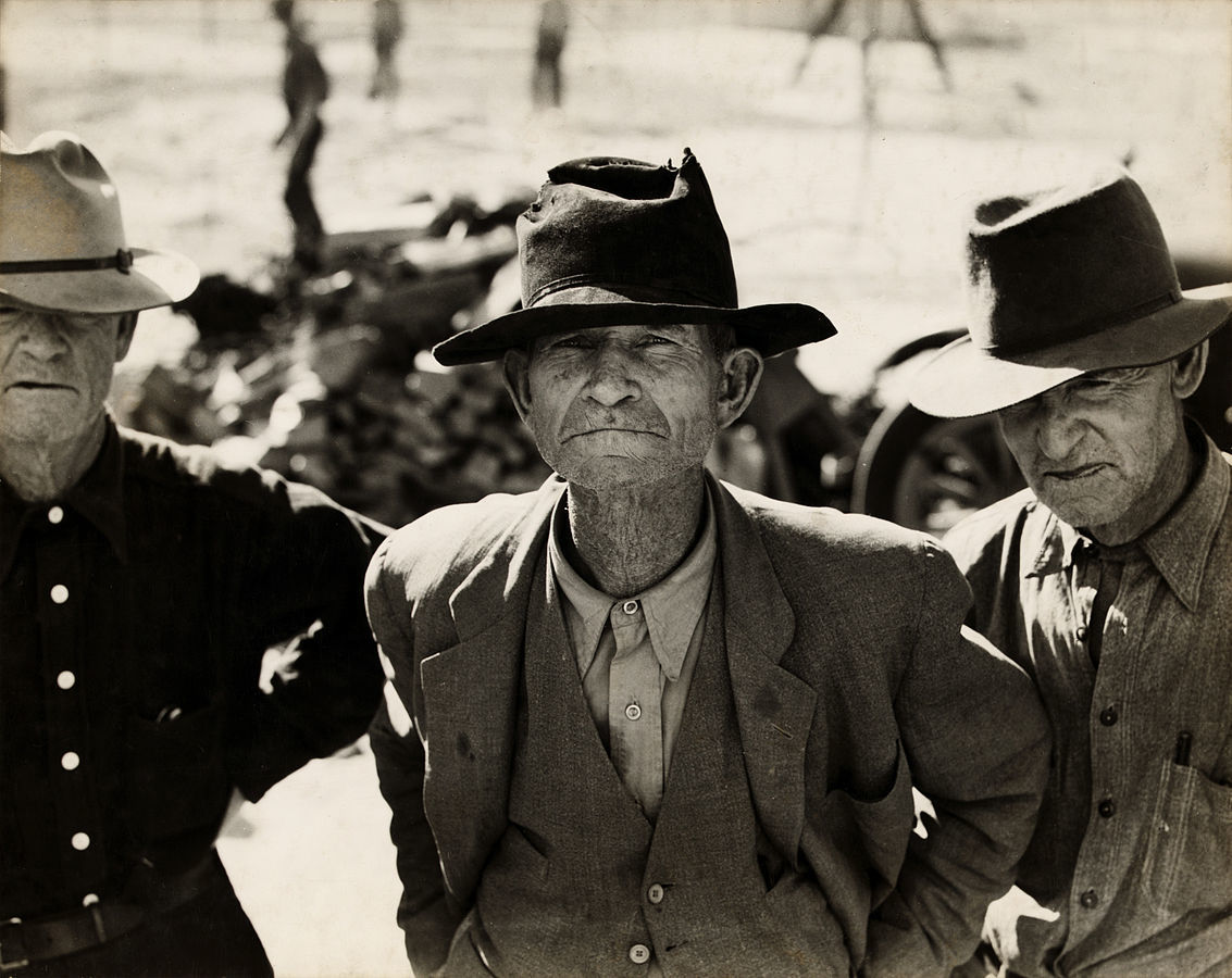 Dorothea Lange, Ex-tenant farmer on relief grant in the Imperial Valley, California, 1937.jpg More details Ex-tenant farmer on relief grant in the Imperial Valley, California.