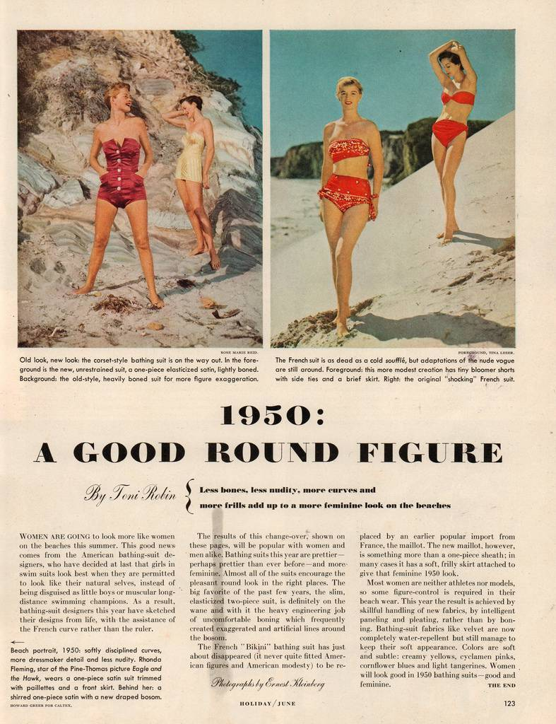 """holiday magazine (June 1950) titled """"1950: A Nice Round Figure"""""""