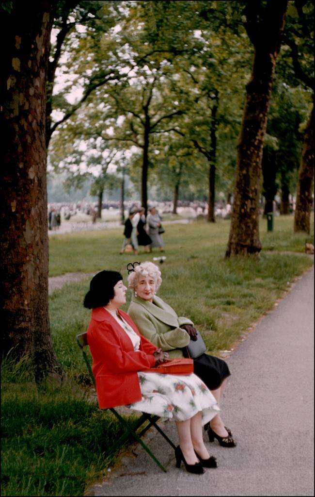 1955, England, ladies in Hyde Park