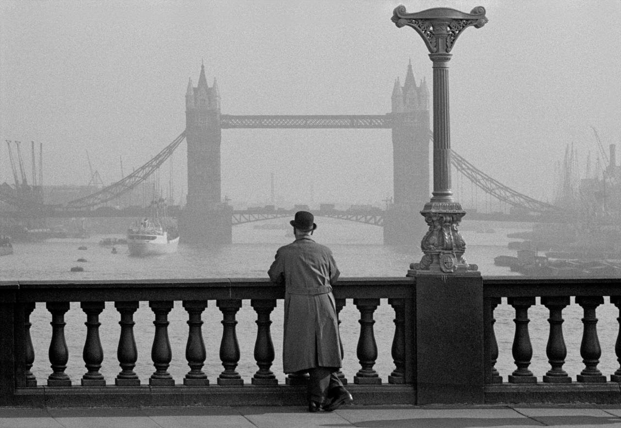 1955, London, Tower Bridge from London Bridge