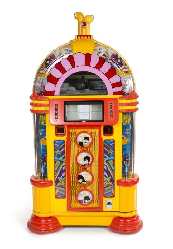 A rare limited edition Apple authorized Rock-Ola jukebox with a 100 CD capacity. Serial number YSM1002. There were only 100 of these issued.