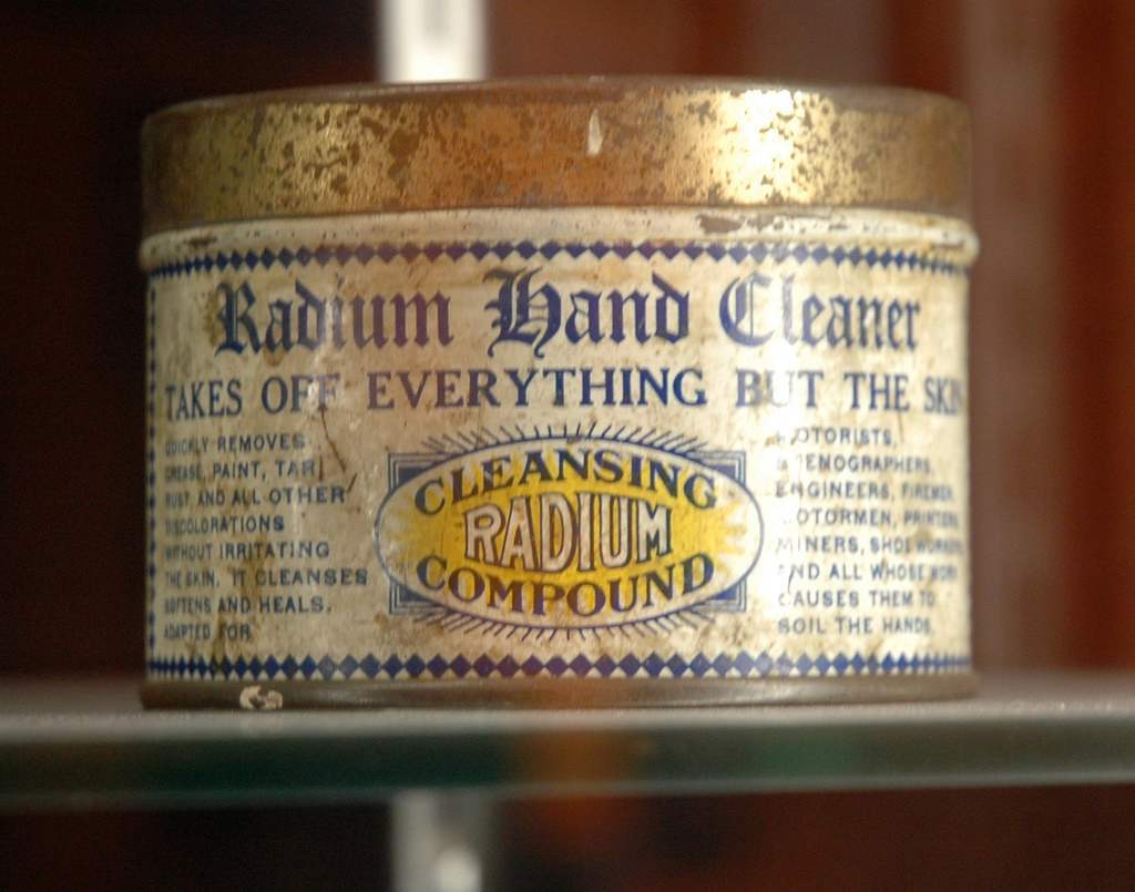 """Takes of everything but the skin"". Wow - that's one hell of a sales pitch. Part of the collection of the National Atomic Museum in Albuquerque, New Mexico."