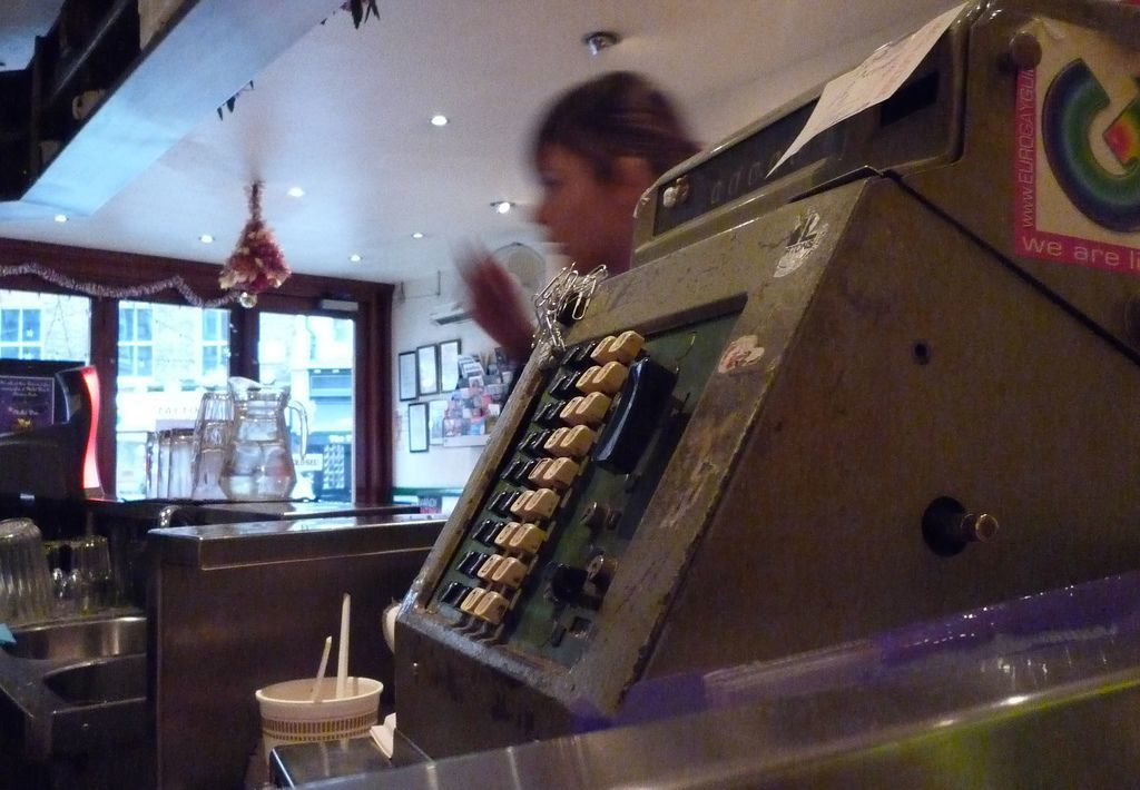 Dean Latchana Follow Stockpot, Soho  The cash register looks almost pre-decimalisation.   Steve Calcott PRO 7y ker-ching!   Scotchegg2010 PRO 6y It is pre-decimalisation. They have had it since 1958.