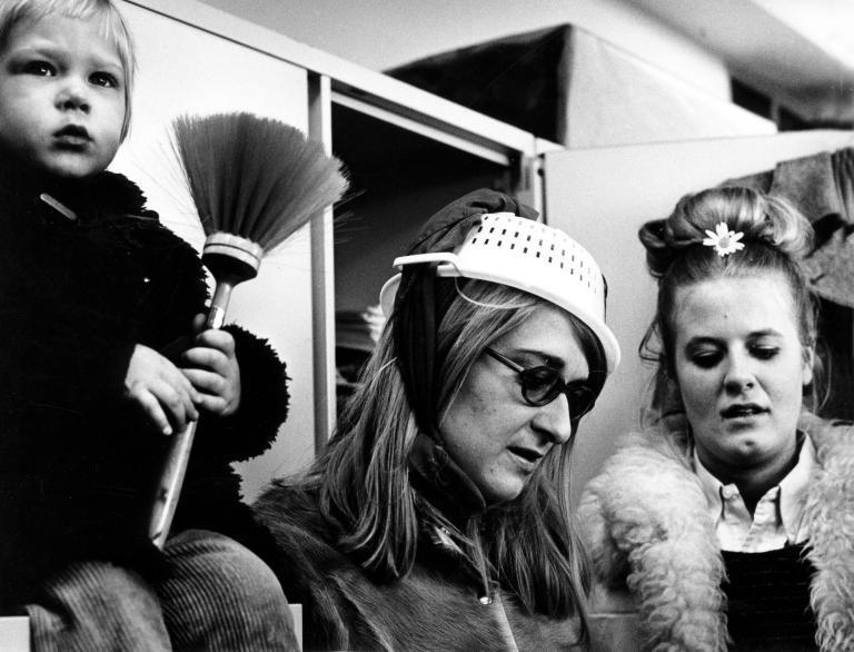 """Dutch women's rights movement group """"Dolla Mina"""". The Netherlands, 1970."""