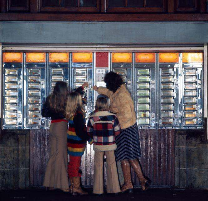 Automat for snacks. The Netherlands, 1971.