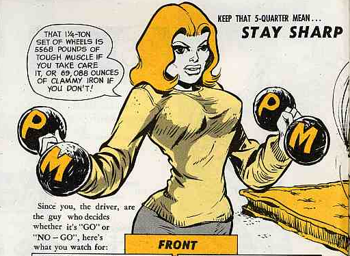 Connie Rodd.... sounds like a porn name, doesn't it? In fact, Connie was the fictional host of the military issued magazine PS Preventive Maintenance Monthly.