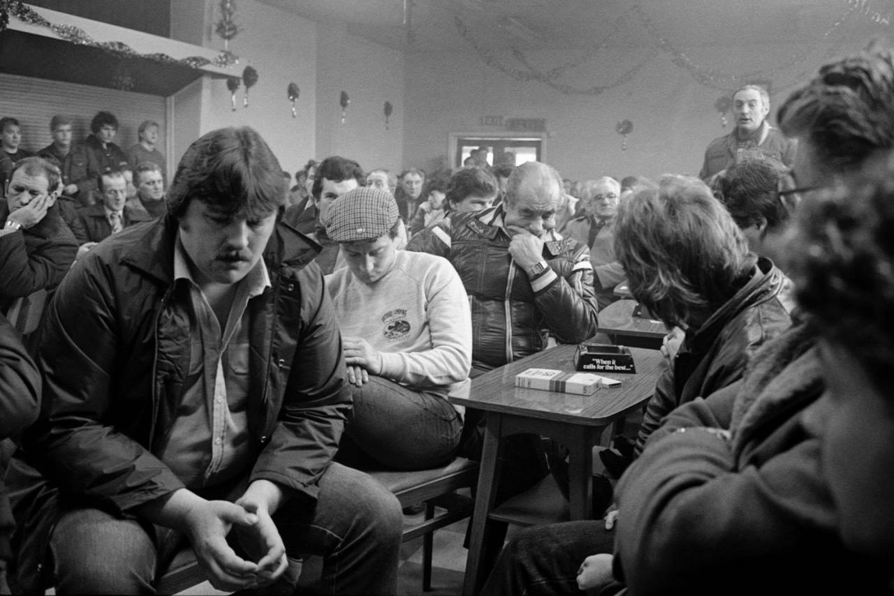 A NUM branch meeting for Darfield Main Colliery at Mitchell & Darfield Social Club Wombwell, 5th January 1985.
