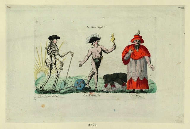 A caricture of the futures of the three estates (1790) (via French Revolution Digital Archive)