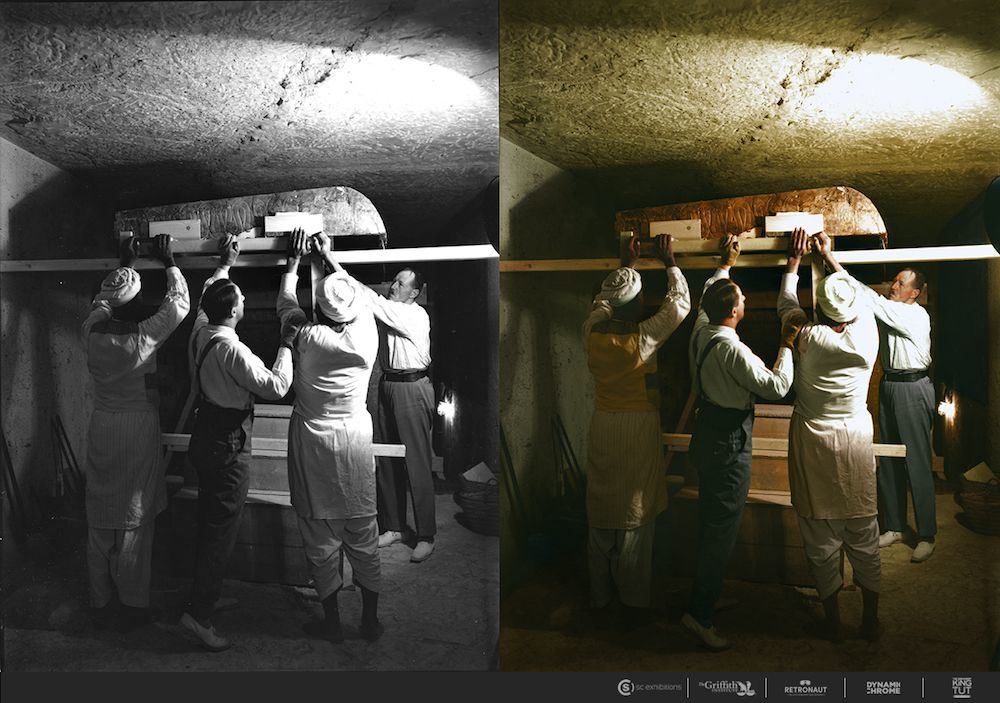 King Tut Tomb Discovery: Color Photos Of The 1922 Discovery Of Tutankhamun's Tomb