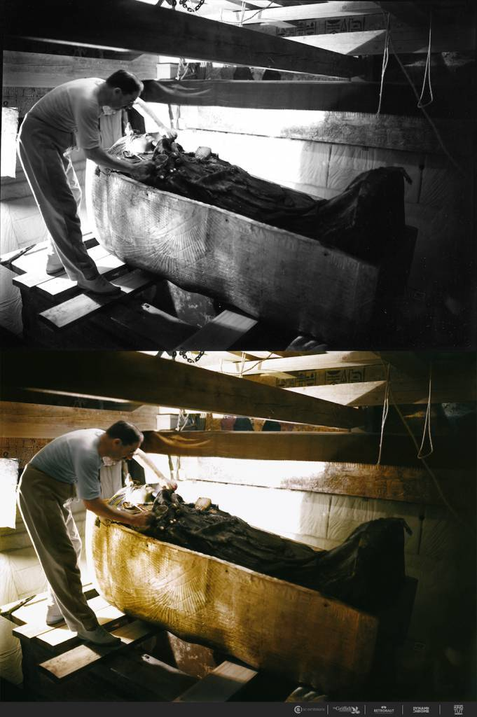 The discovery of Tutankhamun in color