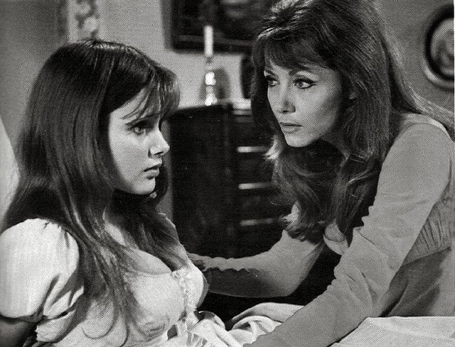 Smith (left) and Ingrid Pitt (right) in Vampire Lovers