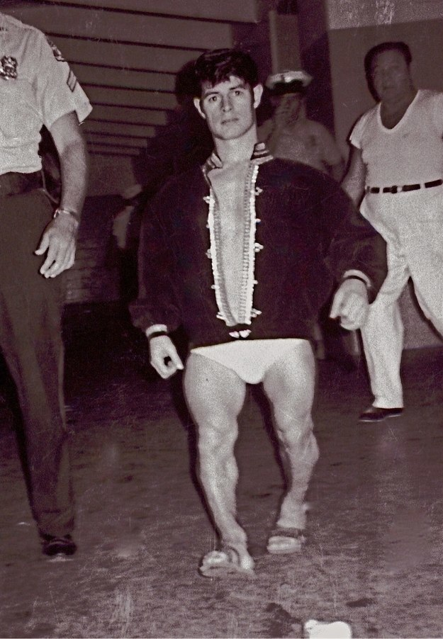 Frenchy Lamonte heading for the ring in Tampa 1970. Frenchy Lamonte was also known as Rolly the Rocket, the Little Hawk, and Little Evilborn. He was born Roland Barriault in Sudbury, Ontario on July 22, 1946. From an early age, Lamonte had a great interest in wrestling deciding at eight to become a wrestler, telling his mother 'I'm gonna be a dirty one.' Trained by Lord Littlebrook, Lamonte made his debut in 1963. He went on to win one world title. He became good friends with fellow wrestler Andre the Giant and has a career as a movie actor. He was also credited by the 'Guinness Book of Records' as the 'World's Strongest Midget.'