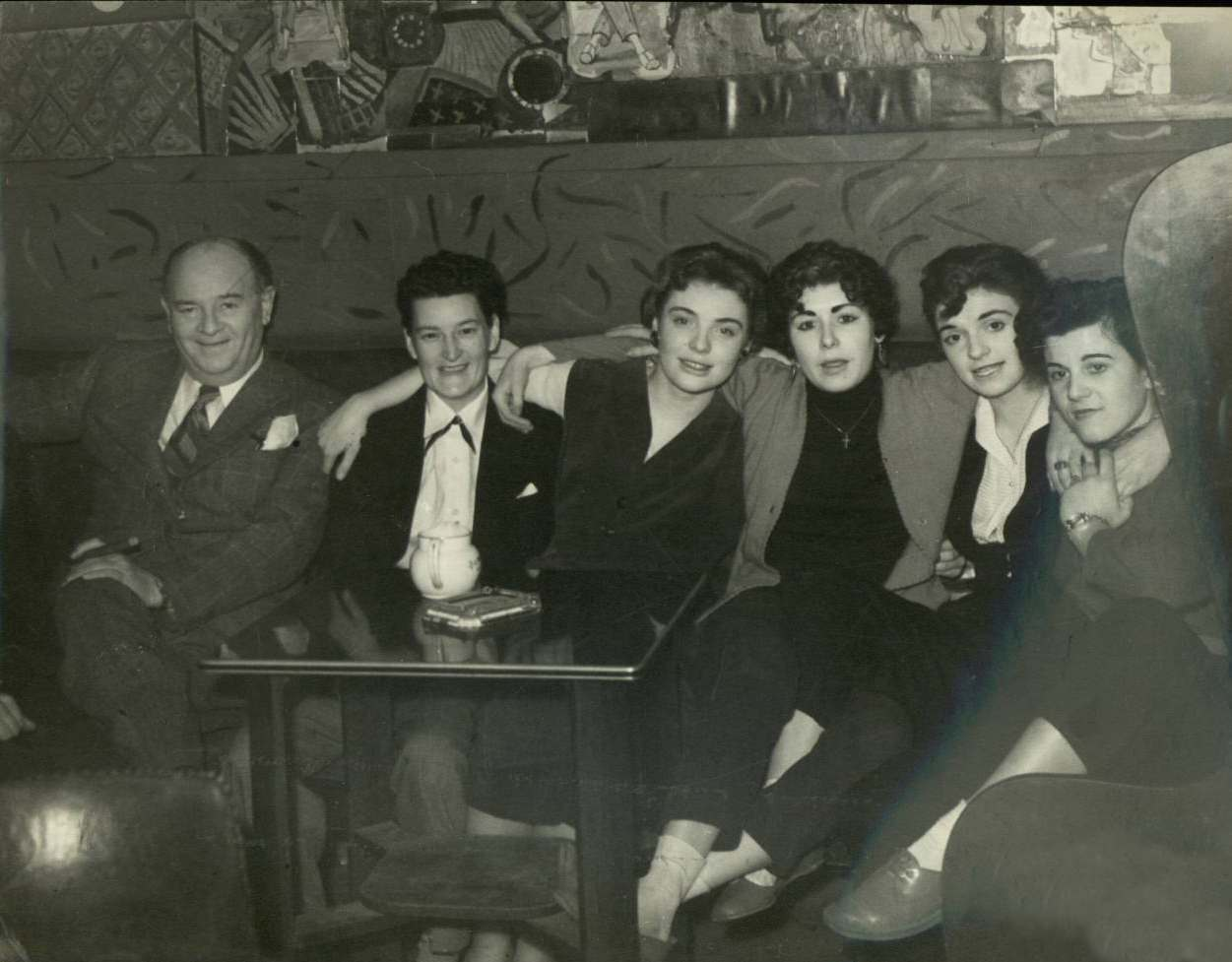 The Gateways Club, the owner Ted Ware is on the left. c.1953.