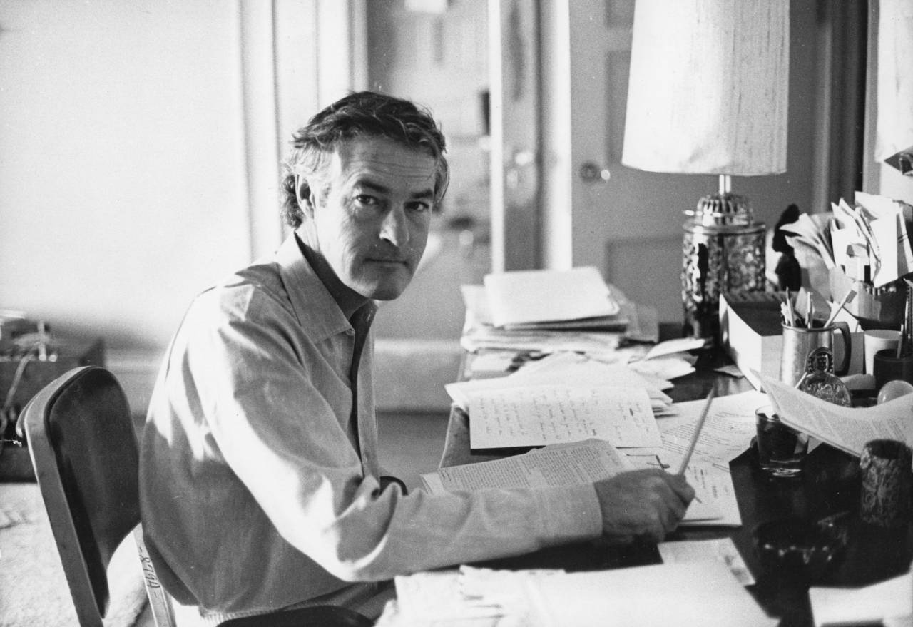 Dr Timothy Leary, the LSD advocate, working at his desk. Original Publication: People Disc - HG0050 (Photo by Hulton Archive/Getty Images)