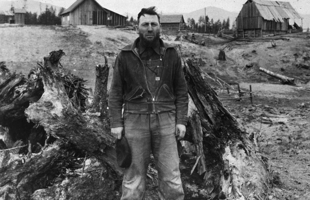 A Mennonite farmer in Boundary County, Idaho. (Photo by Dorothea Lange/Getty Images)