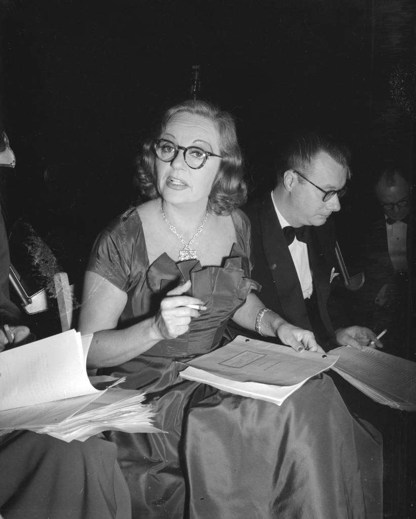17th September 1951: American actress, Tallulah Bankhead (1902 - 1968), during the recording of 'The Big Show'. (Photo by Express/Express/Getty Images)