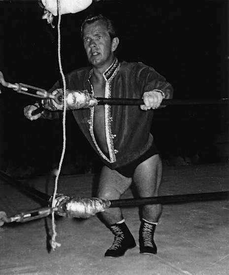 A wrestler called 'Jack Cassidy' ready to rumble in 1968.