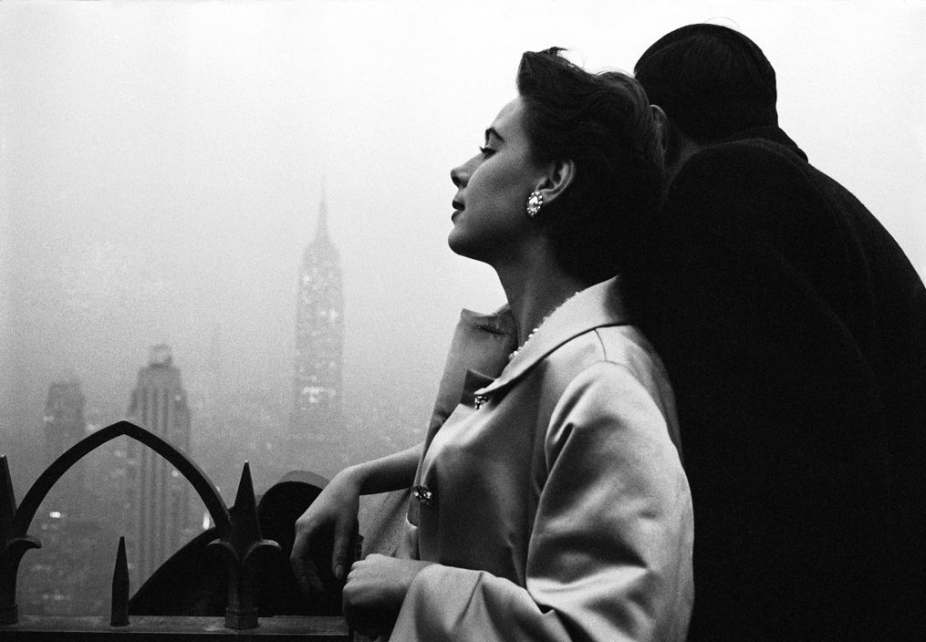 USA. NEW YORK. New York. Model, Drusilla Beyfus. 1956.