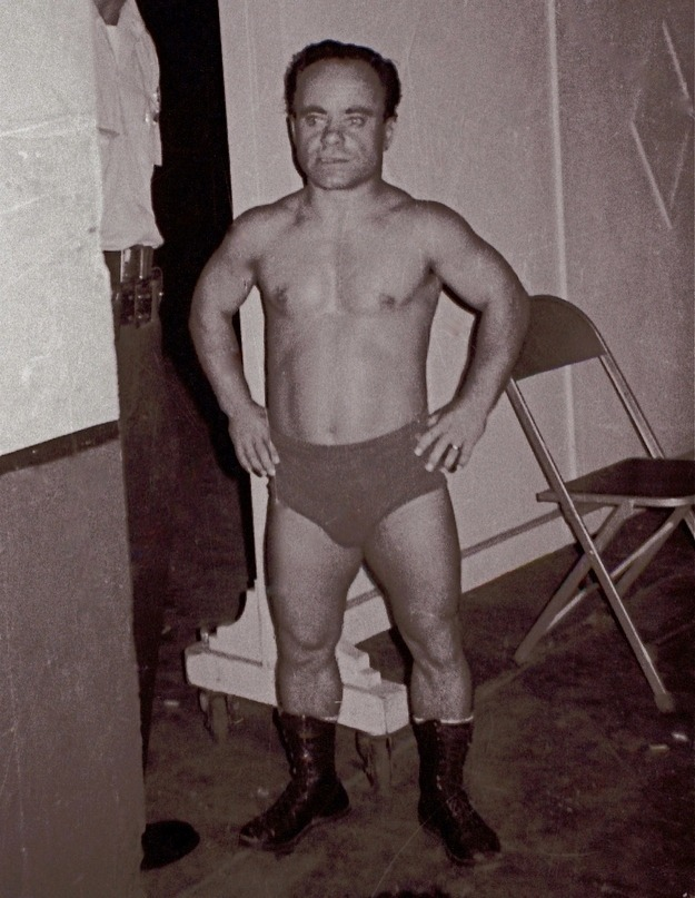 The legendary Lord Littlebrook (aka Eric Tovey), in Milwaukee July 7, 1968. A major star of 'Midget Wrestling' Littlebrook was born in England in 1929. He started his career as a circus acrobat before taking up wrestling in the 1950s. He moved to the US in the early 1960s, where he became NWA World Midget Champion—winning a record three times (tied with Little Tokyo). He continued wrestling until the late 1980s, when he was enshrined into the Professional Wrestling Hall of Fame. Now retired, Lord Littlebrook resides with his son in Saint Joseph, Missouri.