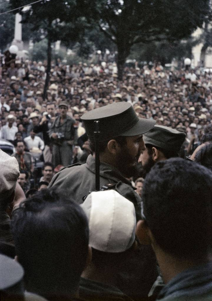 CUBA. Matanzas. 1959. Fidel Castro on his way toward Havana.
