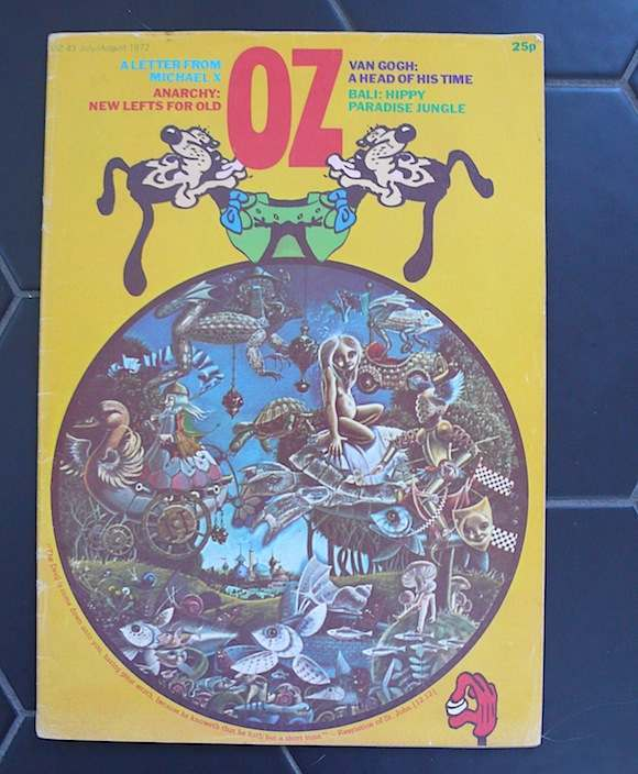//Front cover of OZ 43, the issue which included the Wembley flyer//