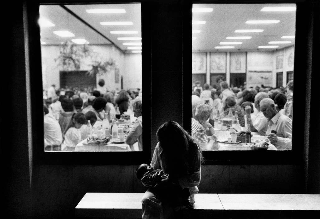 A Passover 'Seder' in the dining room of the Kibbutz Kinneret.1979