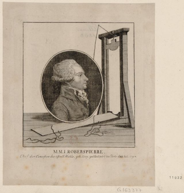 Robespierre and the guillotine (1794) (via French Revolution Digital Archive)